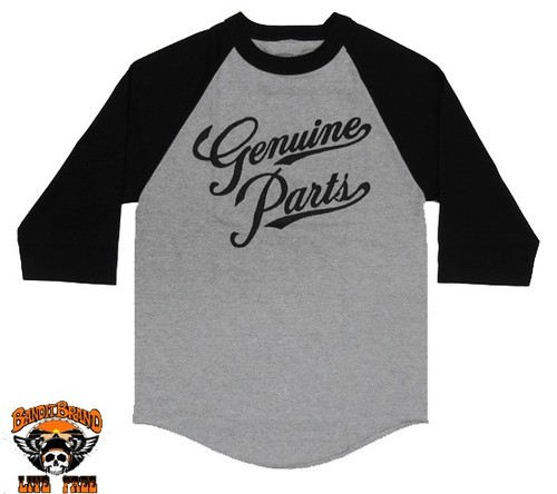 Bandit Brand Genuine Parts baseball tee,#Mbb-GP-bkgr