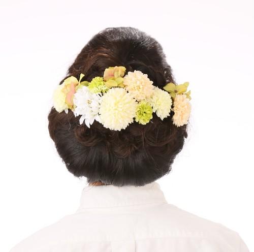 和装婚・成人式の前撮りに!マムと紫陽花のへッドドレス