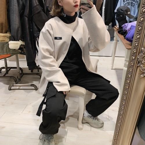 【即納】韓国ファッション OY CUTTING CAPE T-SHIRTS