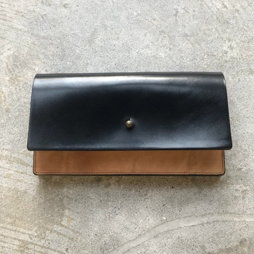forme long wallet cordovan black
