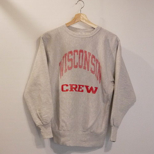 "Champion 1990's REVERSE WEAVE SizeL ""WISCONSIN CREW"""