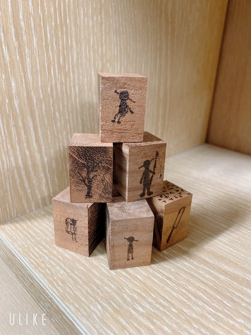 木のブロック(7個セット)