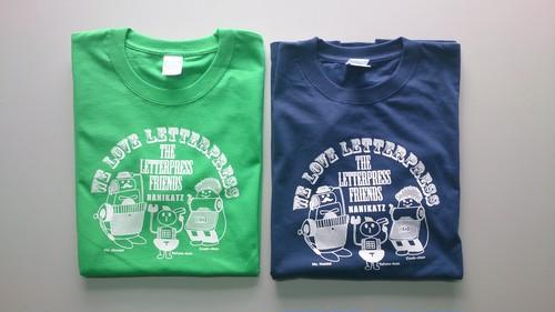 レタープレスTシャツ