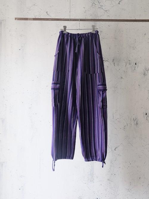 purple stripe summer pants