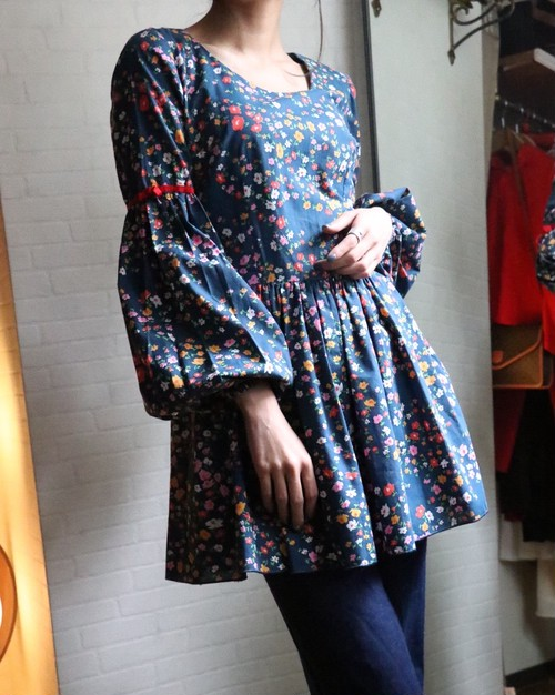 Flower tunic tops
