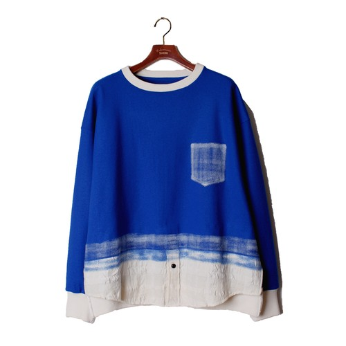 Needle Pull Over Tops  -blue <LSD-AI3T4>
