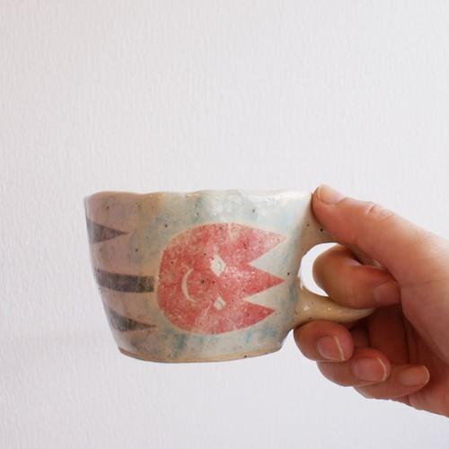 so pottery カップ 変なチューリップ