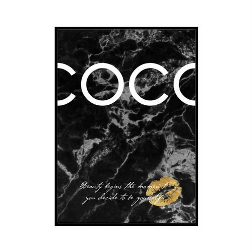 """COCO Beauty begins..."" Black marble - COCOシリーズ [SD-000555] A1サイズ ポスター単品"