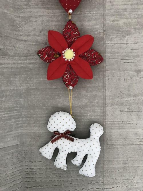 クリスマス壁飾り(トイプー付き)