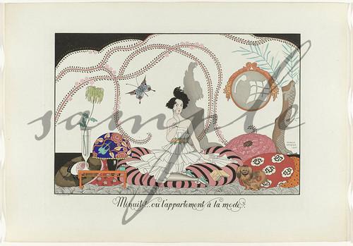 ジョルジュ・バルビエ Le Bonheur du Jour pour 1920 20sheets