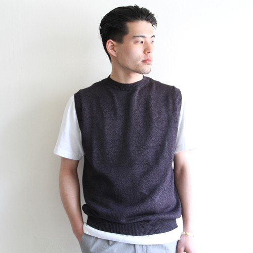STILL BY HAND【 mens 】knit vest