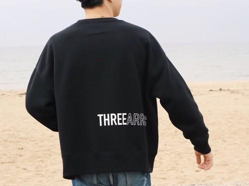 THREEARROWS BIG SWEAT  (black)