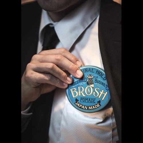 BROSH ブロッシュ ポマード フォービジネス(無香料 青缶)  115g