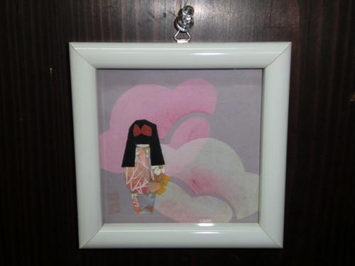壁掛け 和紙人形