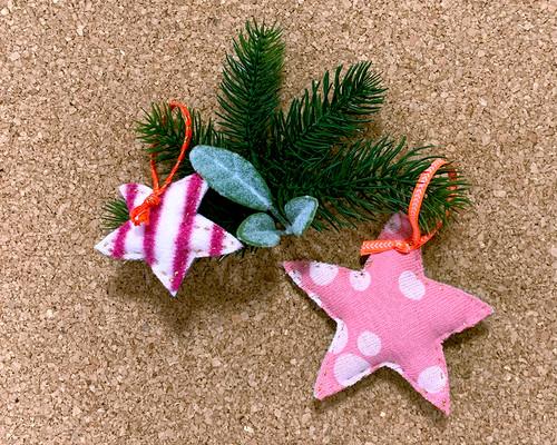 クリスマスオーナメント_大小星型2個セット_reborn