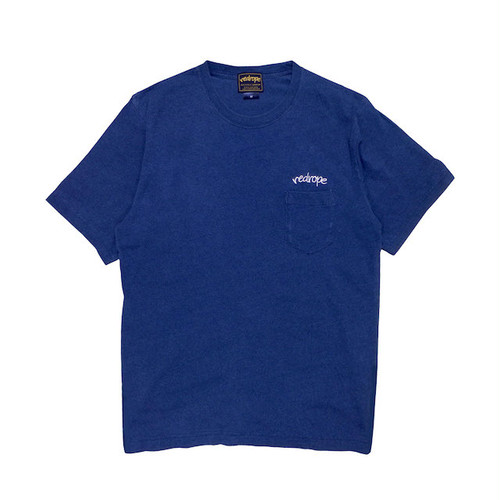 【INDIGO POCKET TEE】 indigo/white