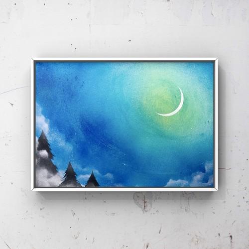 「月夜」 風景画