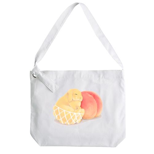 白桃・黄桃うさぎ リングショルダーバッグ
