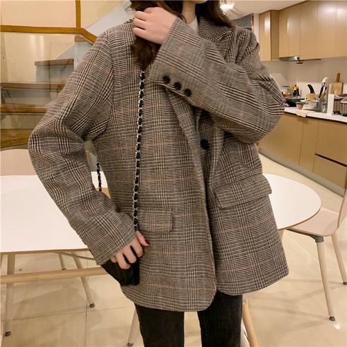 コージー アバンギャルド 清新 長袖 折り襟 原宿系  上品 スーツ・アウター