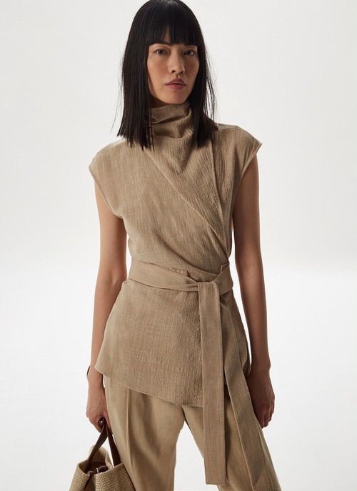 COTTON TOP WITH SIDE TIE