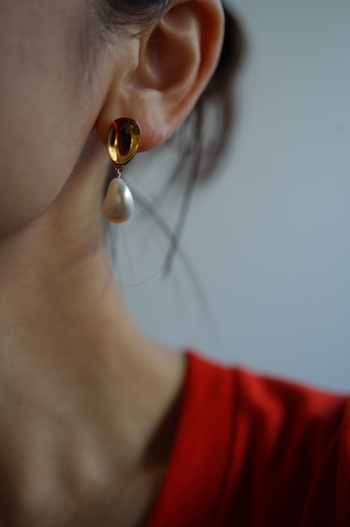SOPHIE BUHAI - GOLD EVERYDAY PEARL DROP EARRINGS