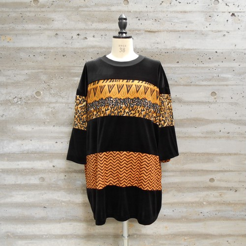 WIDE BORDER VELOR TOPS◆ZIGZAG
