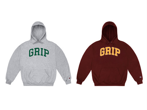 CLASSIC GRIP|GRIP HOODIE WITH 90s PUFF PRINT