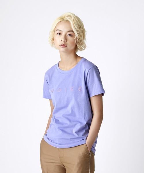 ラメロゴプリントTシャツ(パープル)