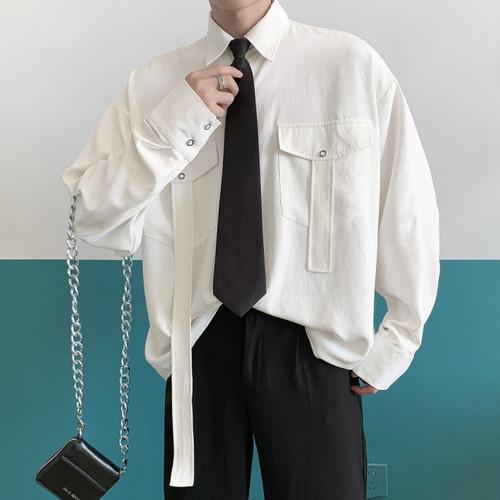 ネクタイ付ユニークデザインシャツ BL4253