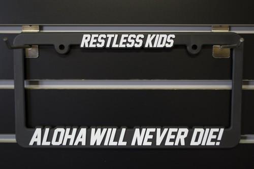 RESTLESS KIDS Licence plate frames