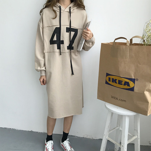 【新作10%off】hoodie parker long dress 3642