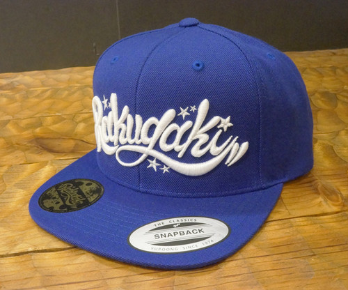 RAKUGAKI Main logo Snap Back Cap Royal x White