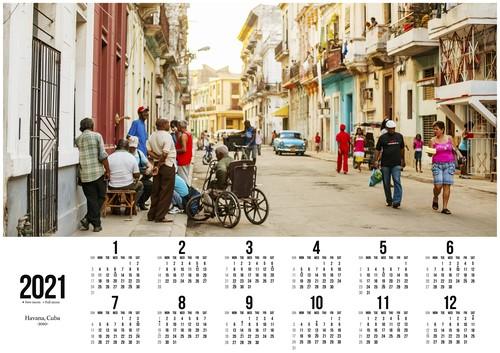 2021ポスターカレンダー / ハバナ、キューバ