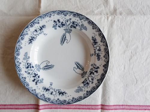 フランスアンティークプレート 皿 H