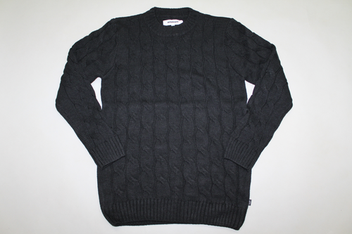 CABLE KNIT   -BLK-