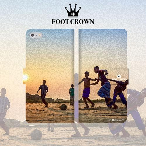 iPhone全機種対応 手帳型スマートフォンケース ビーチサッカーデザイン