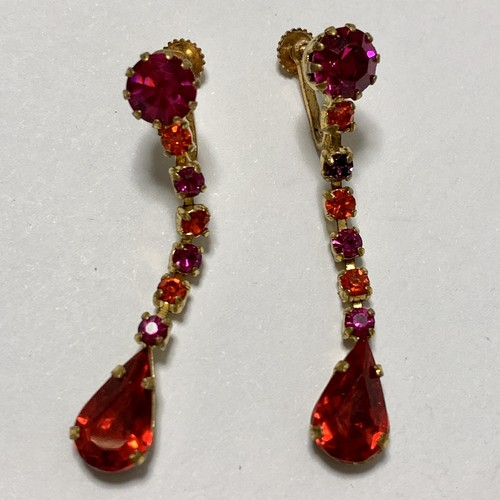 Vintage Bijoux Dangle Earrings Made In Austria