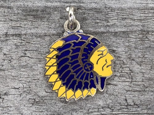 Wells Sterling Charm-Indian Head