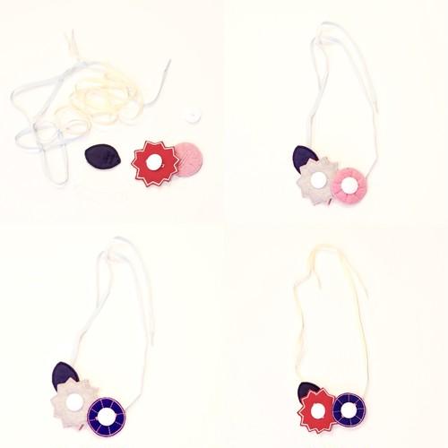 <セット>何通りも楽しめる こどもがつくるお花のネックレス-fw02-01