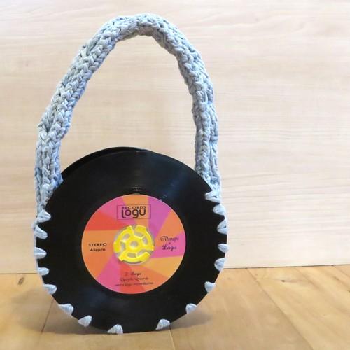 本物のレコードで出来たバッグ「bagu 」cotton strings gray  | Logu-Records