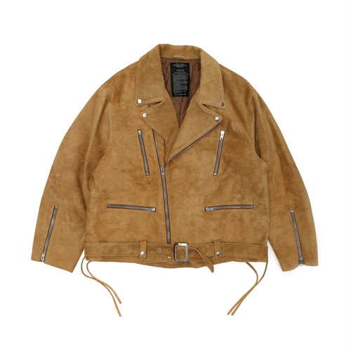 "UNUSED for SO JOHN ""SUEDE BIG RIDERS JACKET""(CAMEL)"