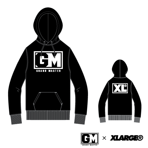 [XLARGE®×GRAND MASTER] PULLOVER HOODIE