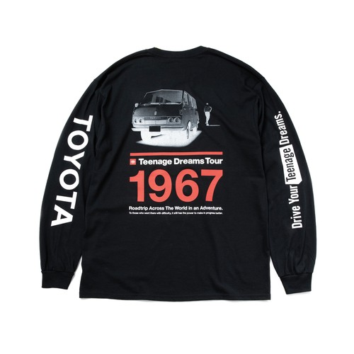 "TOYOTA ""HIACE 1967"" Long Sleeve - Black"