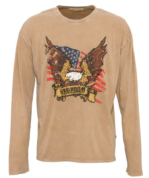 VINTAGE EAGLE DAMAGE  LONG SLEEVE[REC430]