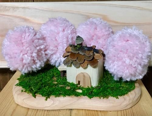 ポンポン森の山小屋*春  木製