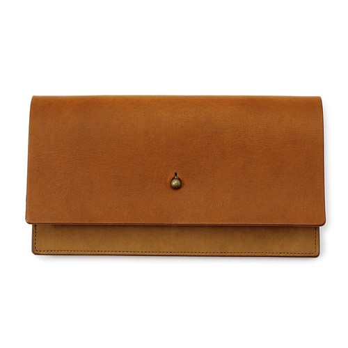 forme Long wallet Liscio camel