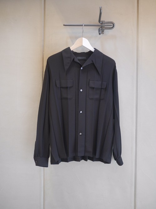 UNDER COVER / PeGC Pleats long sleeve shirt  (BLACK )
