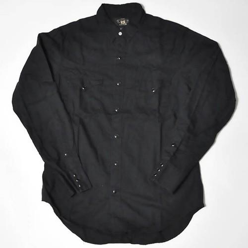 【Used】RRL Ralph Lauren Long Sleeve Shirt black
