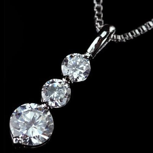 CZダイヤモンドペンダント 「トリロジー」