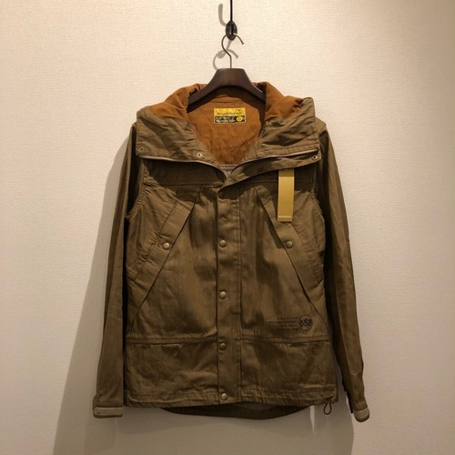 QUILTING DENIM PARKA (YELLOW BROWN) / GERUGA